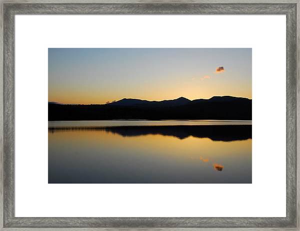 Serenity At Blue Lake Framed Print