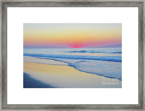 Serenity Beach Sunrise Framed Print