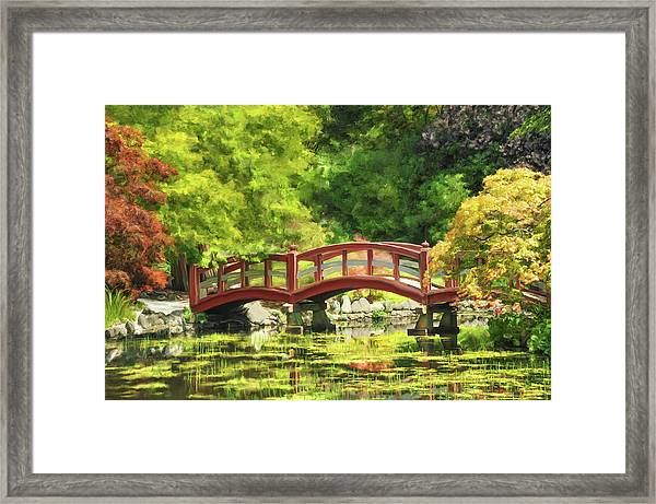 Serenity Bridge II Framed Print