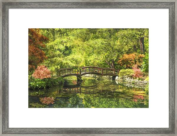 Serenity Bridge Framed Print