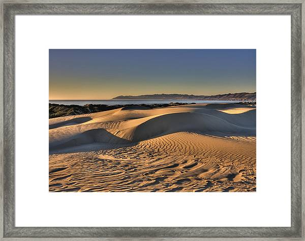 Serenity In The Dunes Framed Print