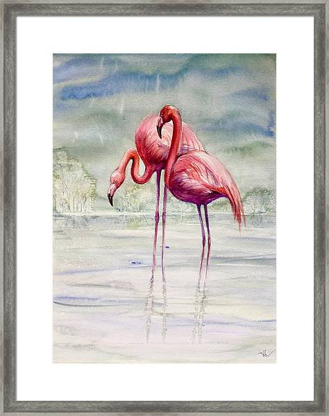 Framed Print featuring the painting Serenity by Katerina Kovatcheva
