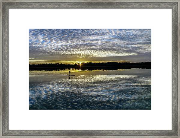 Serenity On A Paddleboard Framed Print