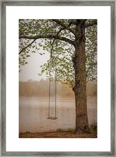 Serenity On The Lake Framed Print