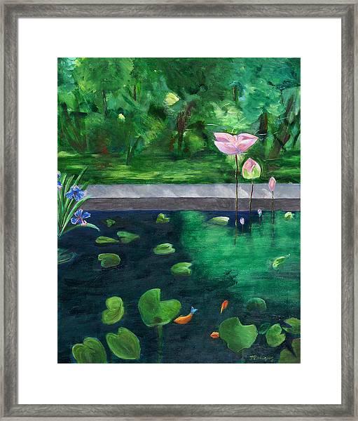 Serenity Pond Framed Print