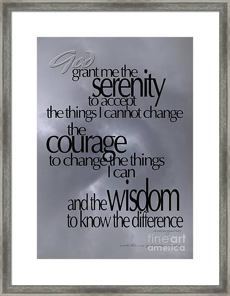 Serenity Prayer 05 Framed Print