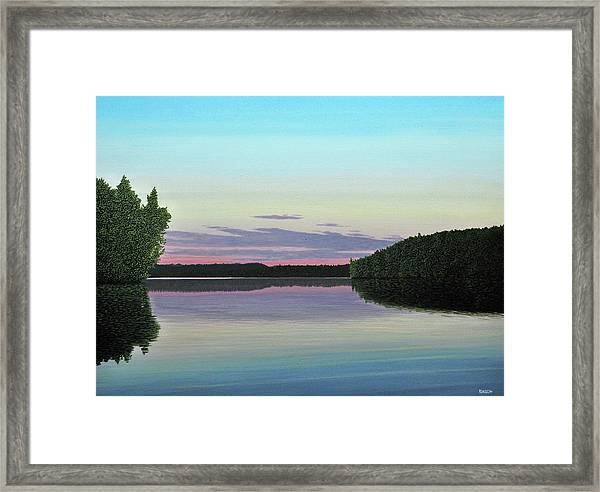 Serenity Skies Framed Print