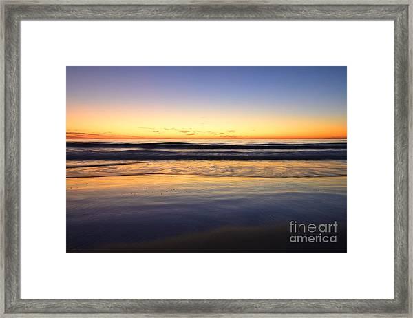 Serenity Sunset Framed Print