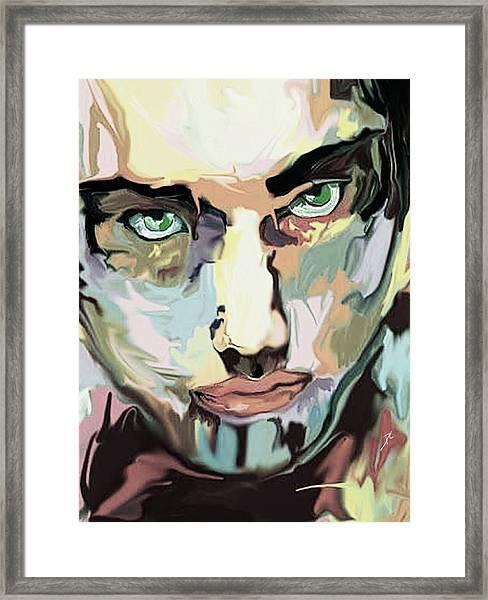 Serious Face Framed Print