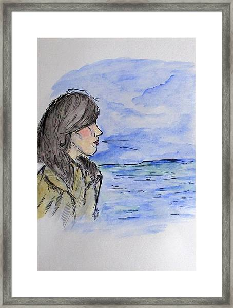 Serious Girl Framed Print
