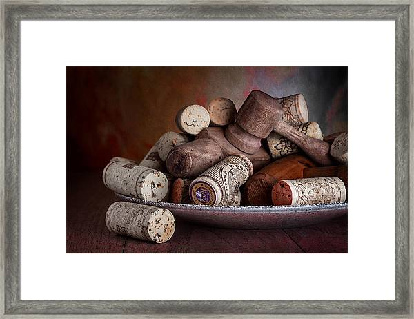 Served - Wine Taps And Corks Framed Print
