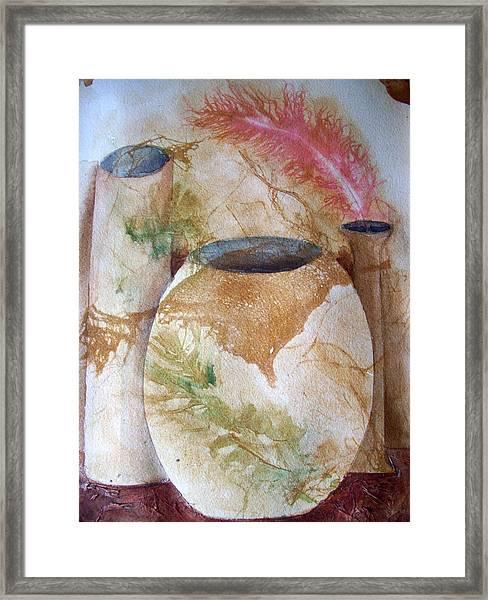 Set Of Vases Framed Print