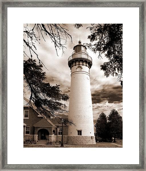 Seul Choix Point Lghthouse Mi Framed Print