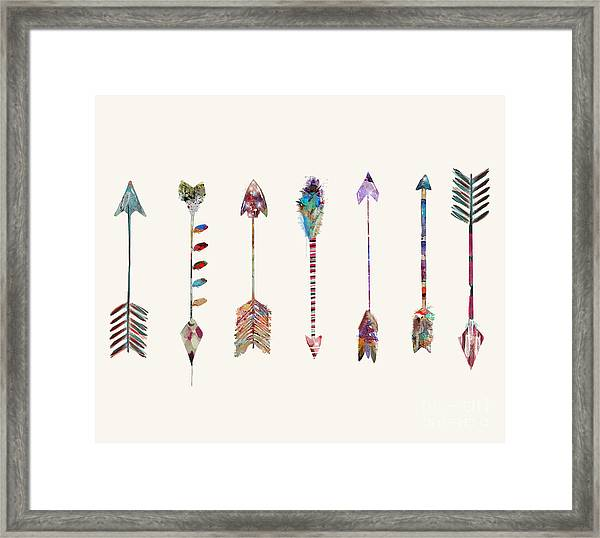 Seven Little Arrows Framed Print