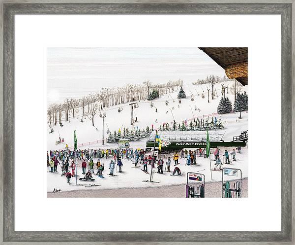 Seven Springs Stowe Slope Framed Print