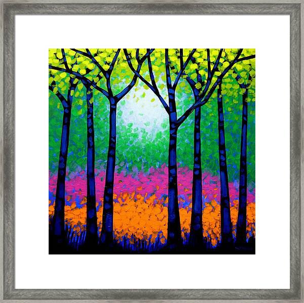 Seven Trees Framed Print