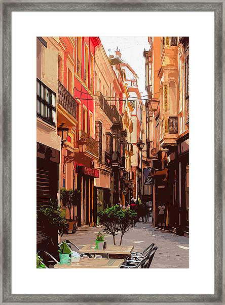 Seville, The Colorful Streets Of Spain - 02 Framed Print