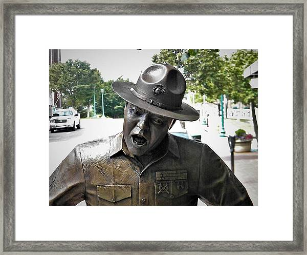 Sgt. Carter Statue In Clarksville, Tn Framed Print