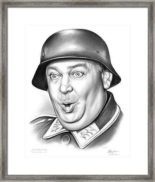Sgt Schultz Framed Print