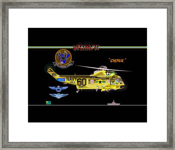Sh-3a Seaking From Hs-2 Framed Print