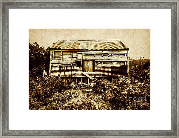 Shabby Country Cottage Framed Print