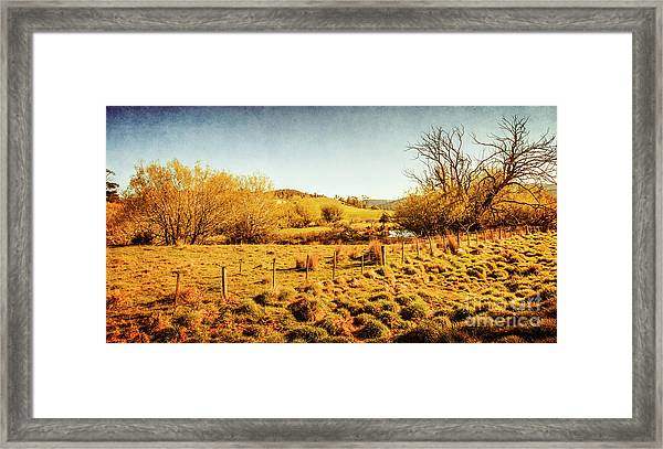 Shabby Country Farmland Framed Print