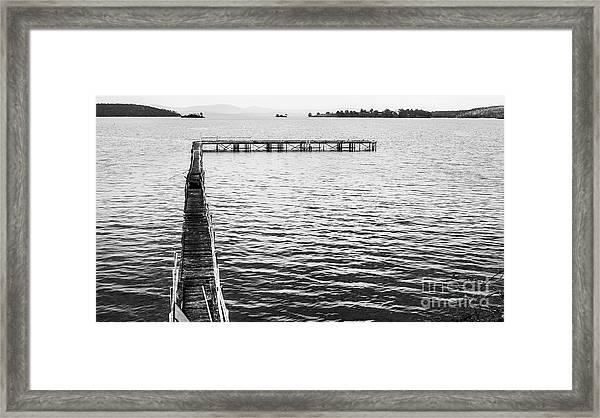Shabby Nautical Style Framed Print