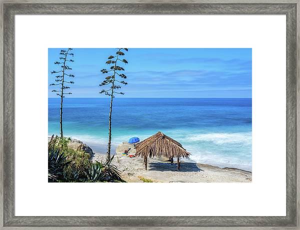 Shack Above The Sea Framed Print