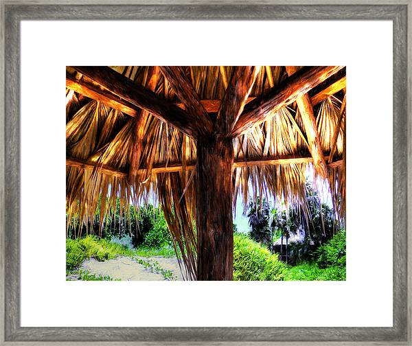 Shade On The Beach Framed Print