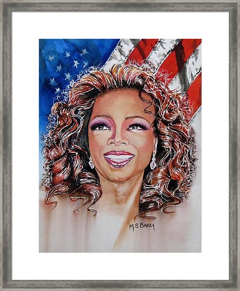 Shades Of Oprah Framed Print