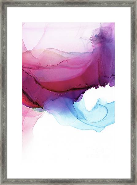 Shades Of Purple Framed Print