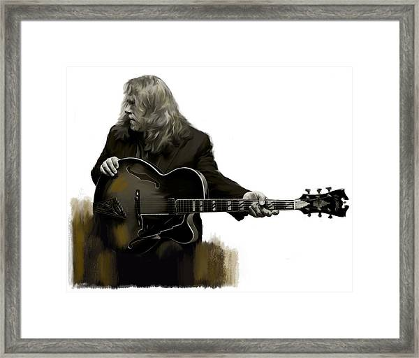 Shades Of Tone Iv Warren Haynes  Framed Print