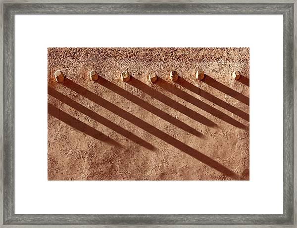 Shadow Beams Framed Print