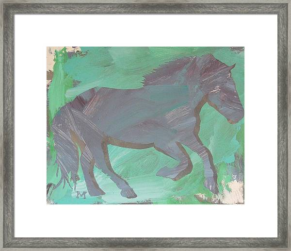 Framed Print featuring the painting Shadow Horse by Candace Shrope