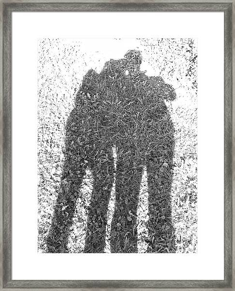 Shadow In The Meadow Bw Framed Print