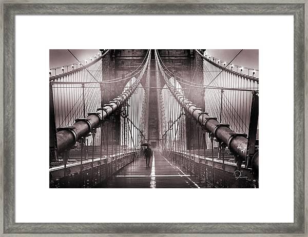 Shadow Man Framed Print