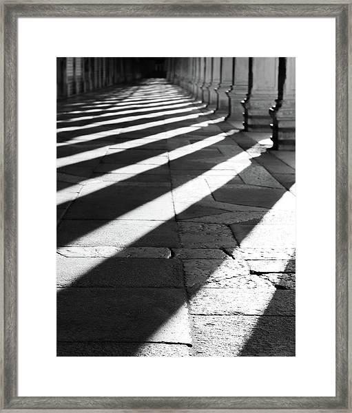 Shadow Play - Venice, Italy Framed Print