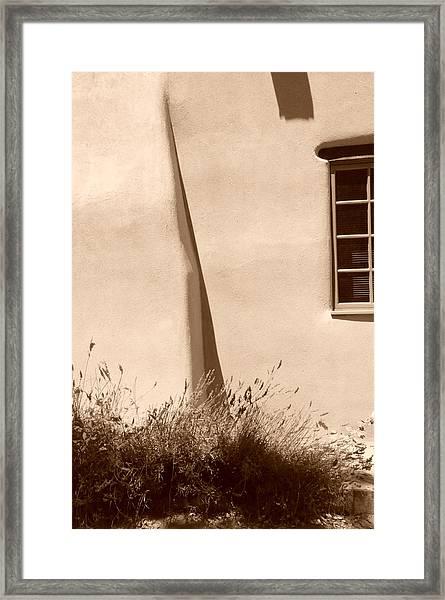 Shadows And Light In Santa Fe Framed Print