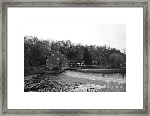 Shadows On The Mill In Clinton Framed Print