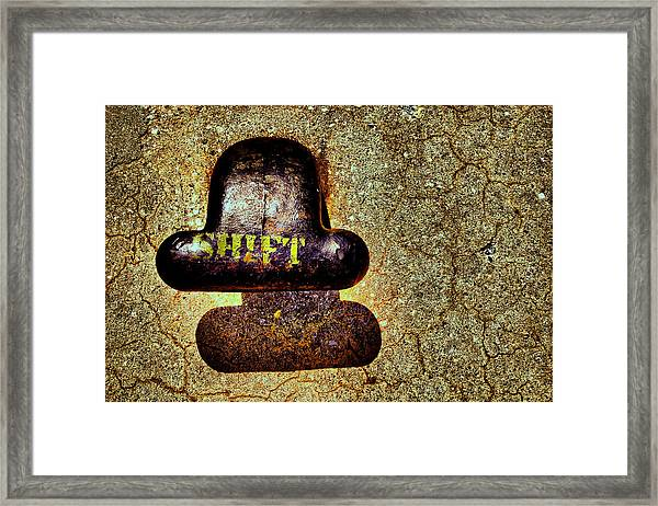 ..shadow...shift... Framed Print by Russell Styles