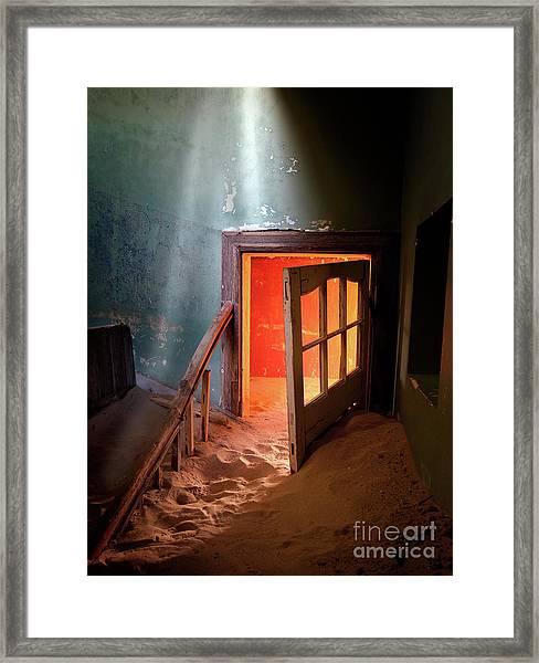 Shaft Of Light Framed Print