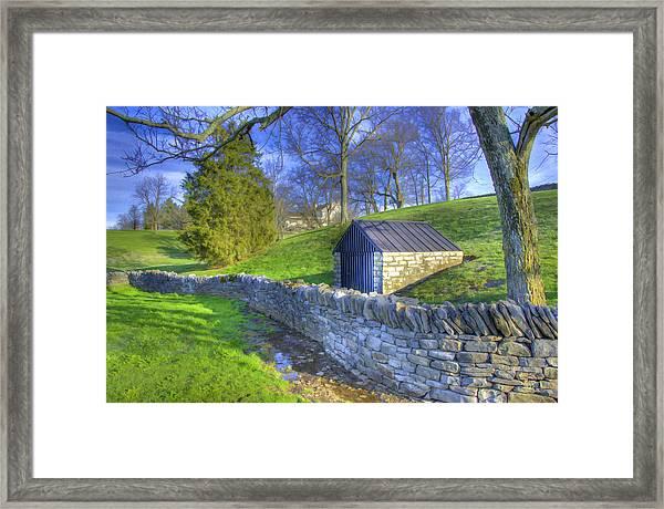 Shaker Stone Wall 6 Framed Print