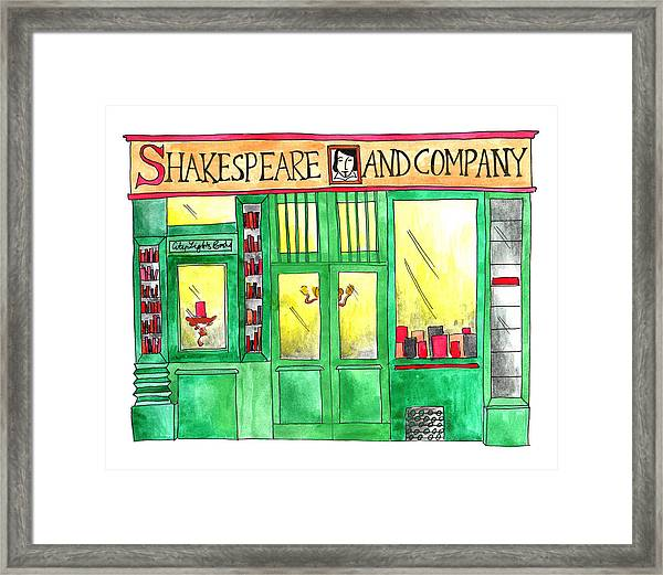 Shakespeare And Company Framed Print