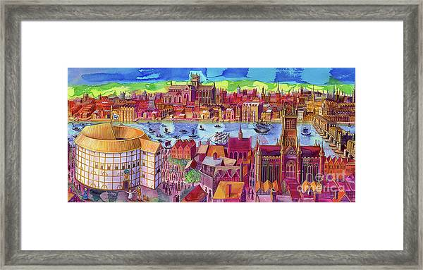 Shakespeare's Globe Theater On The Southbank Framed Print