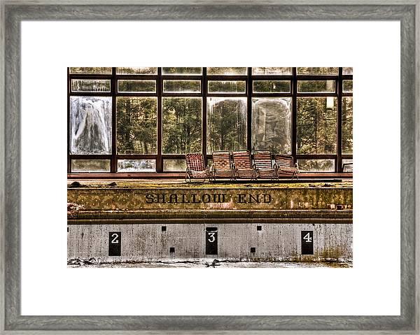 Shallow End Framed Print