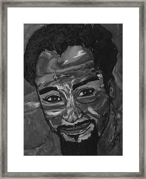 Shane In Black And White Framed Print