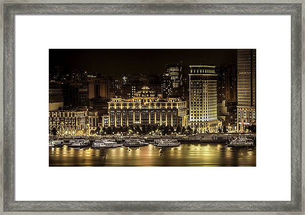Shanghai Nights Framed Print