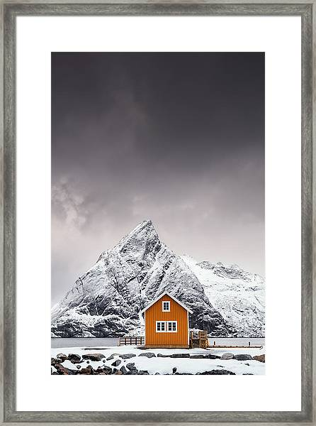 Shapes Of Lofoten Framed Print