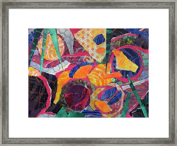 Shards Of Pottery In A Pool Framed Print