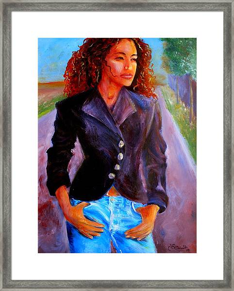 Sharice Framed Print